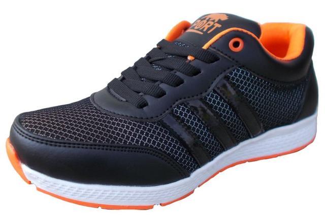 Port Men's Strike Black Mesh Runing Shoes