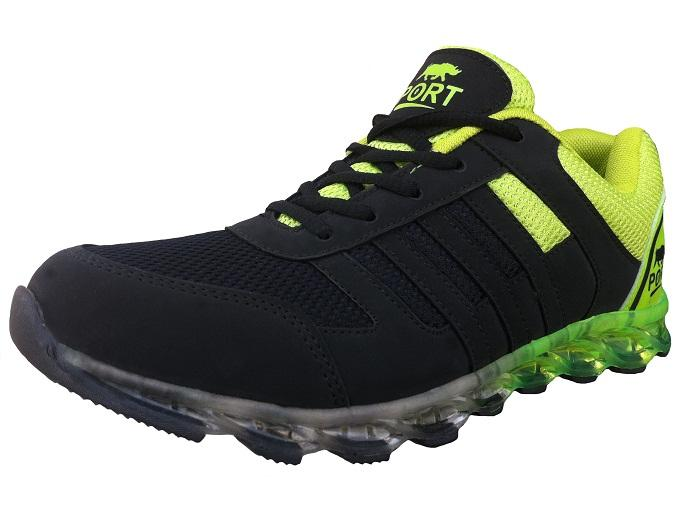 Port Men's Thunder Green Mesh Runing Shoes