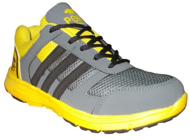 Port Men's Yellow Grace  Mesh  Runing Shoes