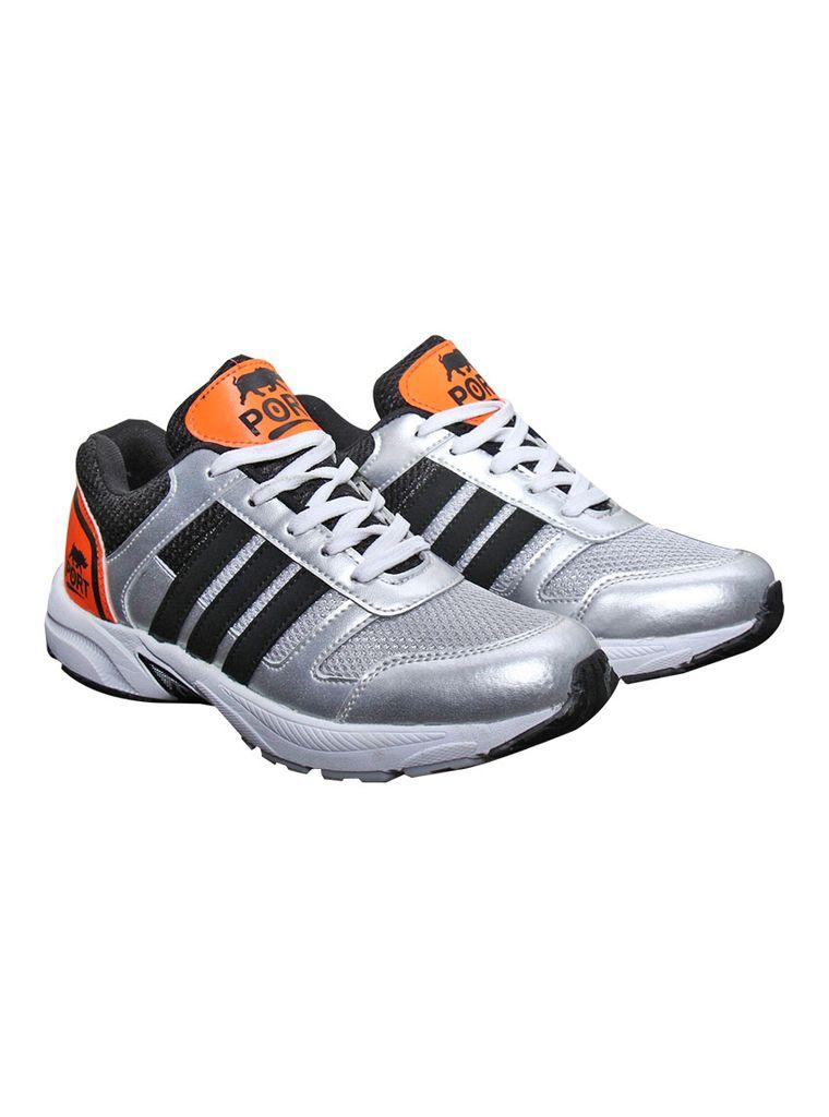 Port Men's Cancro Orange  Mesh Runing Shoes