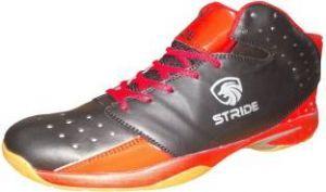 Port Men's Kinglets Red Black PU Badmintion Shoes