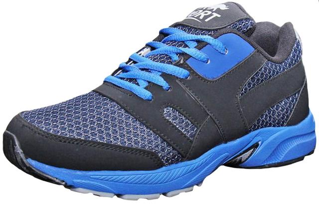Port Men's Edom  Blue Mesh Runing Shoes