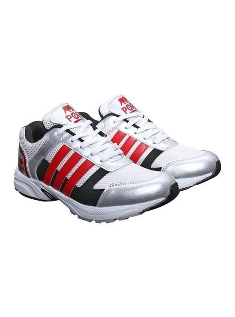 Port Men's Hactor Silver Mesh Runing Shoes