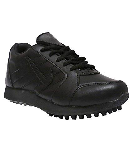 Port Men's Fulmar Black PU Cricket Shoes
