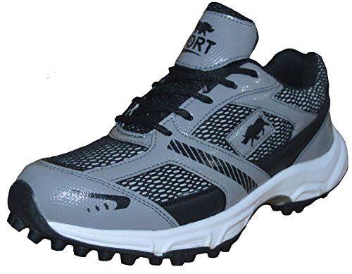 Port Men's Vixen Black PU Cricket Shoes