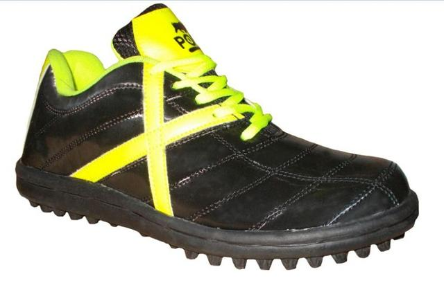 Port Men's Cuban Black Yellow PU Shoes
