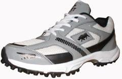 Port Men's Alligator Gray PU Cricket shoes