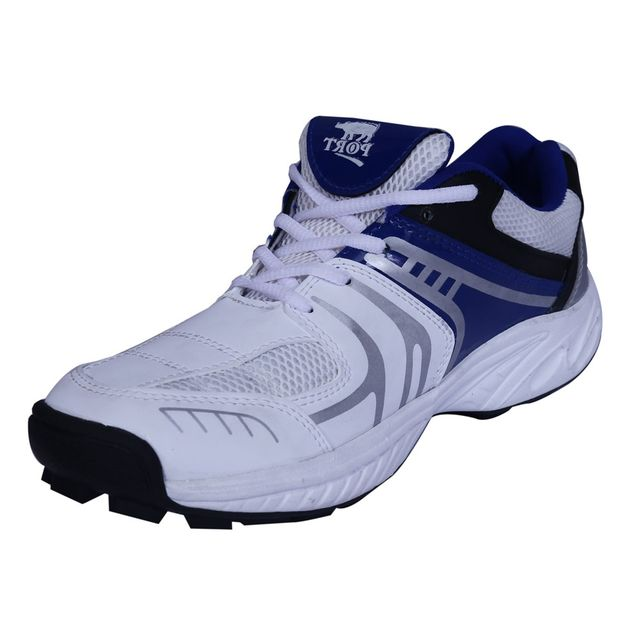 Port Men's Beaver White PU Cricket Shoes