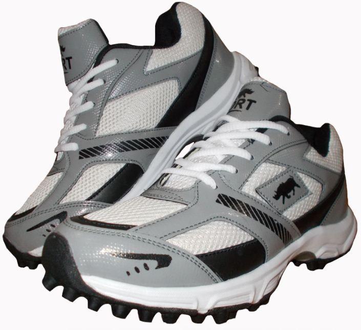 Port Men's  White Nicolls Elite Rubber Sole Cricket Shoe