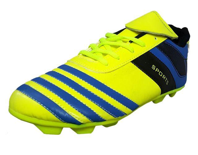 Port Men's Limnocorax C-Green Black PU Football Shoes