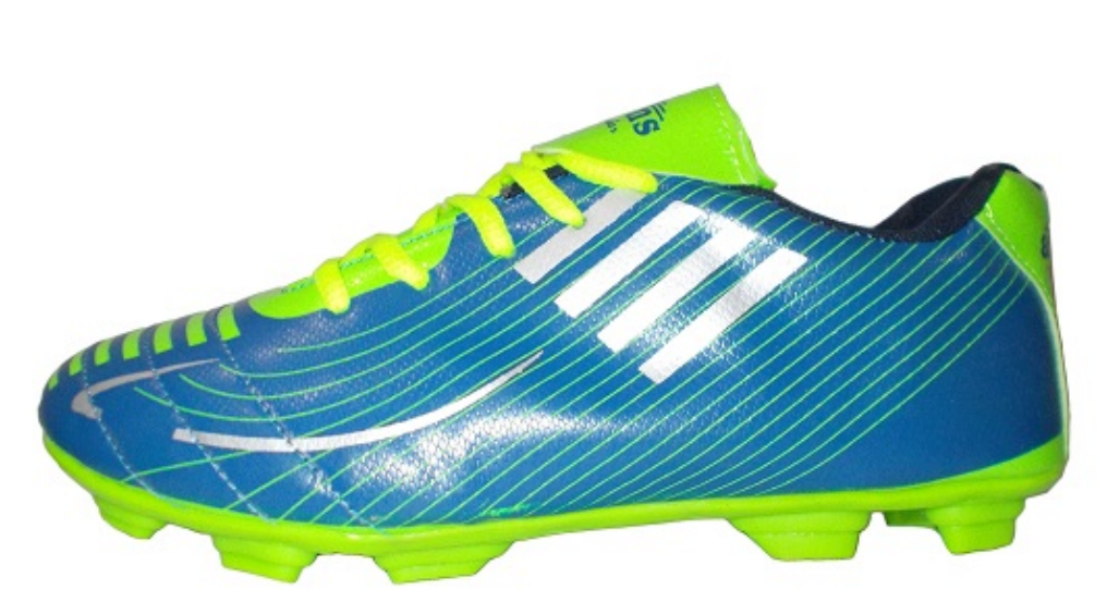 Port Men's Xerus Sky Blue C-Green PU Football Shoes