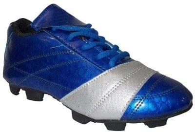 Port Men's Alectura Silver Blue  PU Football Shoes