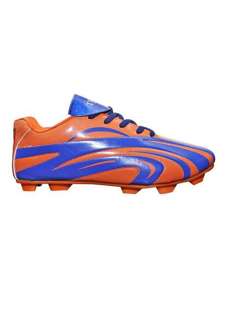 Port Men's Hystrix Blue Orange PU Football shoes