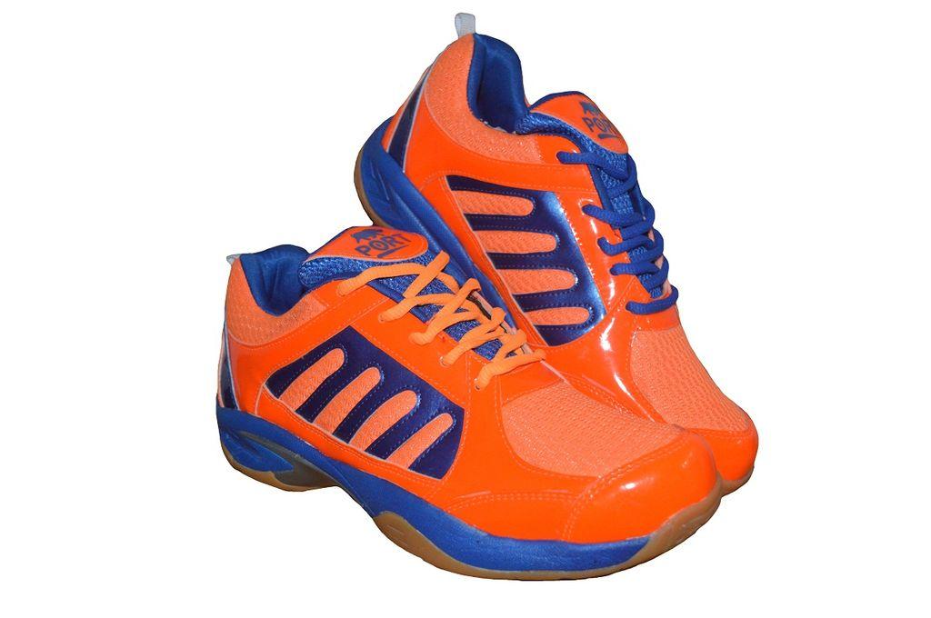 Port Men's Dox Orange Badminton Shoes
