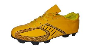 Port Men's Oryx Yellow  PU Football Shoes