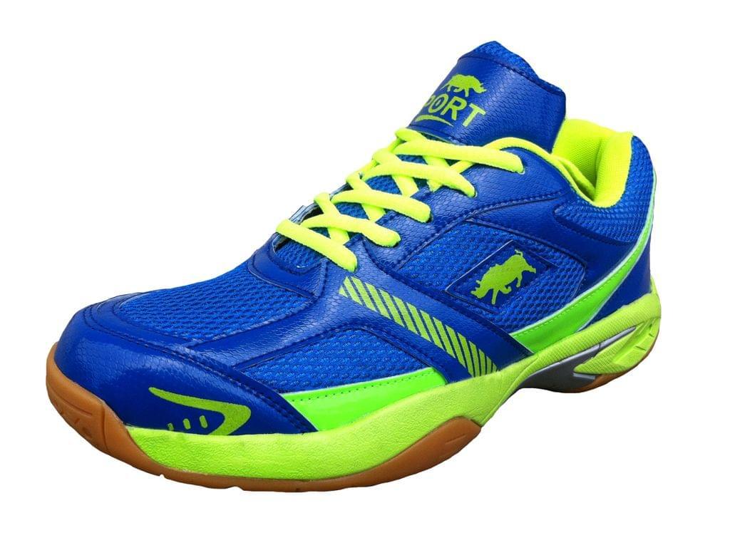 Port Men's Bullforce Blue Badminton Shoes