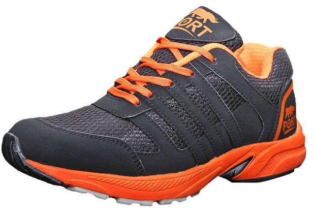 Port Men's Kalen Black Running Shoes for men