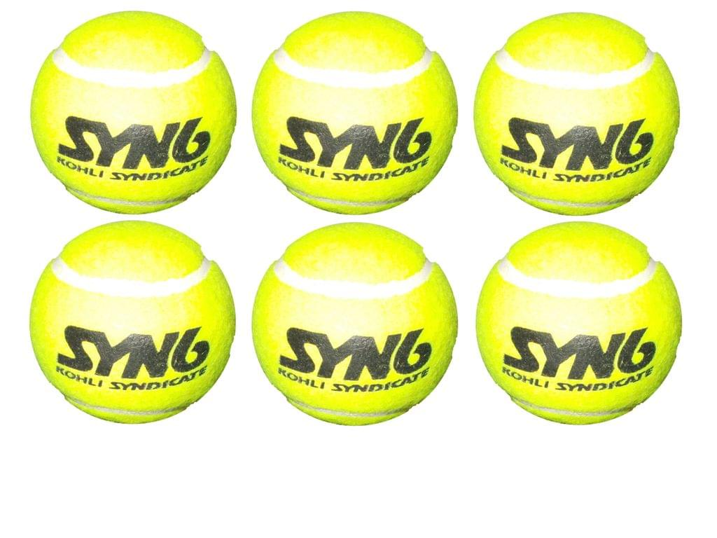 Syndicate Syn6 Tennis Balls Pack Of 6