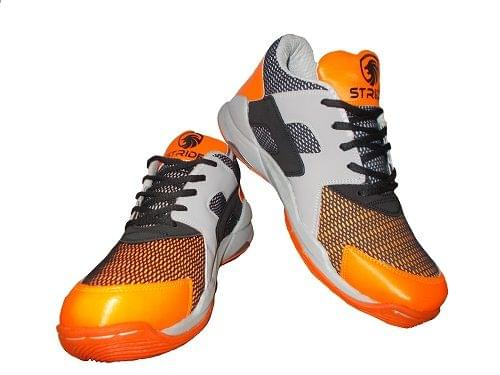 Port Men's Stride Orange Pu Badminton Shoes
