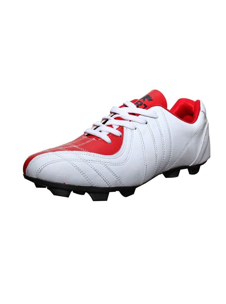 Port Men's Dino Red White PU Football Shoes