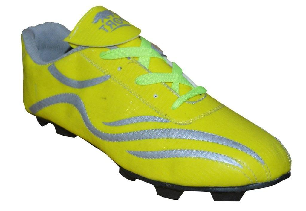 Port Men's Crawler yellow PU Football Shoes