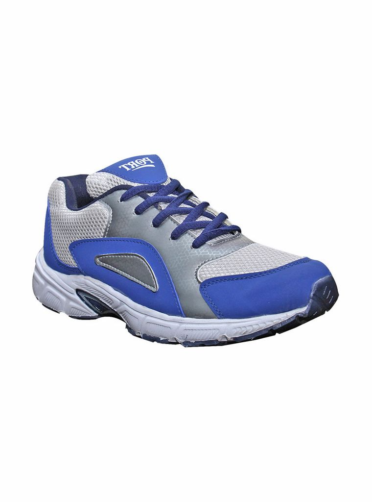 Port Men's Panthera leo Silver Blue Running Shoes