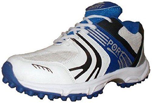 Port Men's Rezer White PU Cricket Shoes