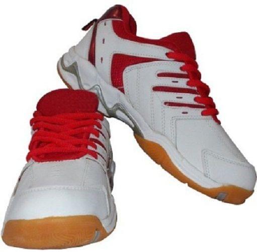 Port Men's Red Spark Pu Badminton Shoes