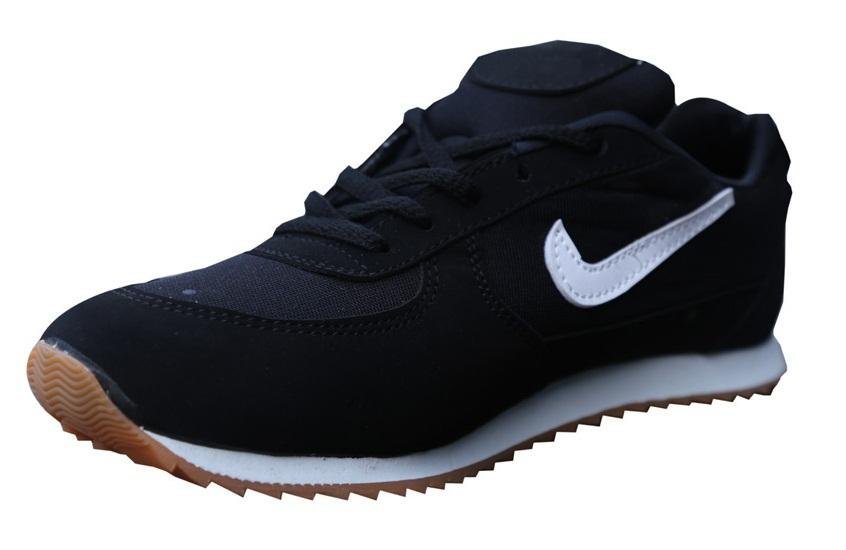 Port Sports Black PU Running Shoes for women