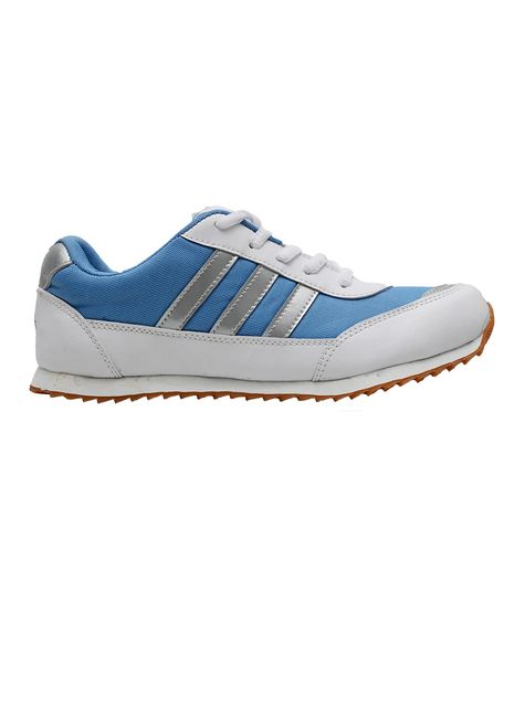 Port Wego White Blue Sports Shoes For Girls