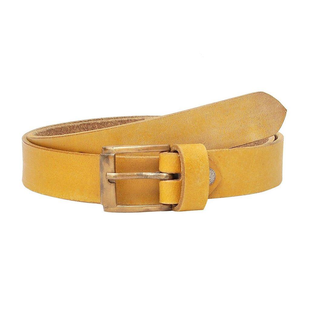 Port Women's Yellow Lather Belt1-ylwlblt