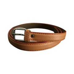 Port Women's Tan Brown Leather Belt
