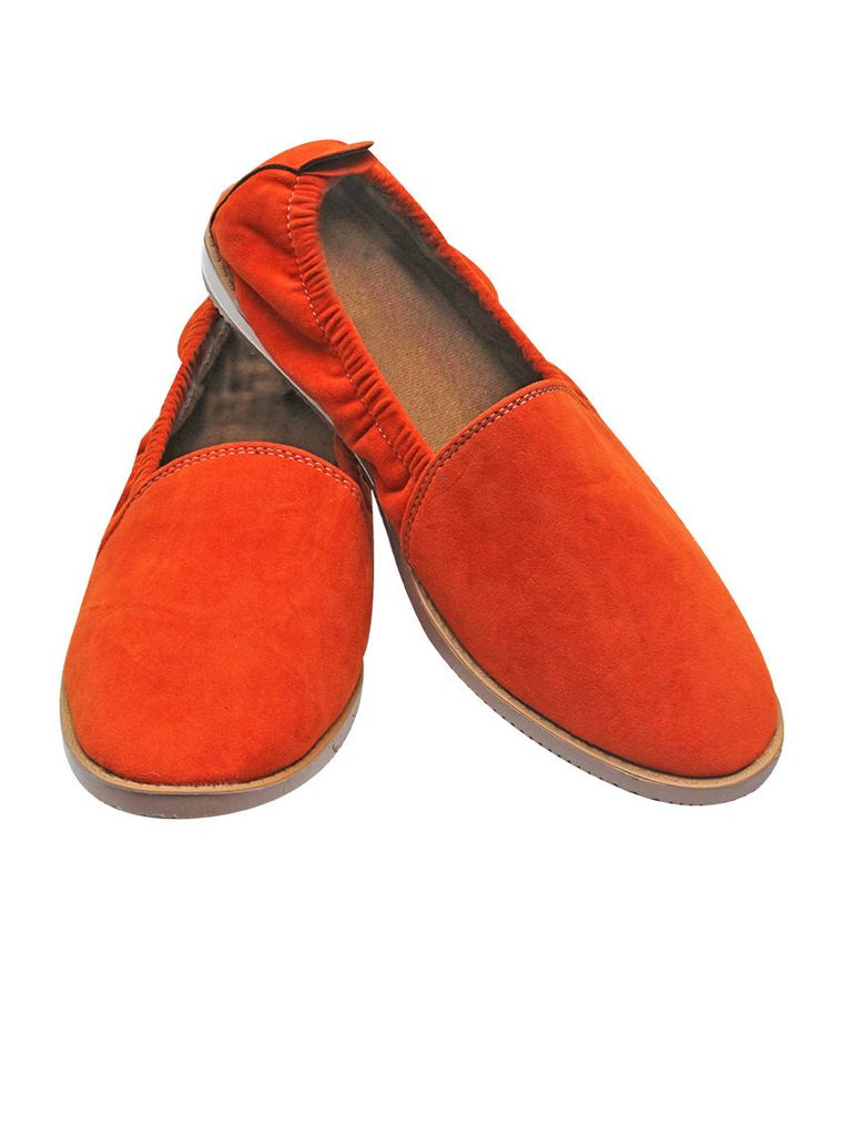 Port Gothic Orange Suede Casual Shoes for Men