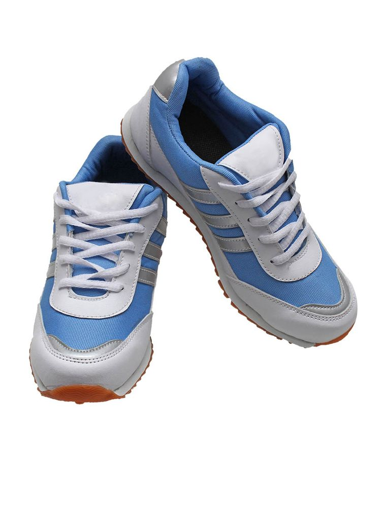 Port Wego Blue PU Sports Running Shoes For Womens