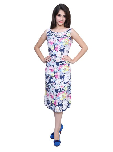 Port One Piece Floral Blue Dress For Women