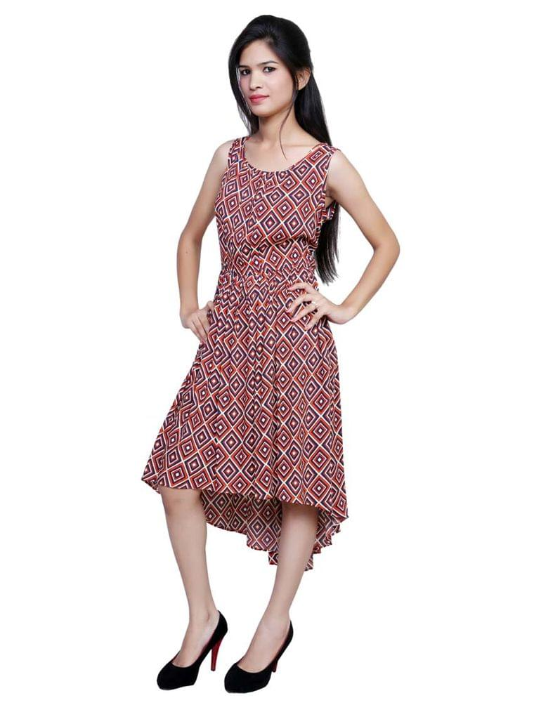 Port Multicolored Party wear Dress For Women