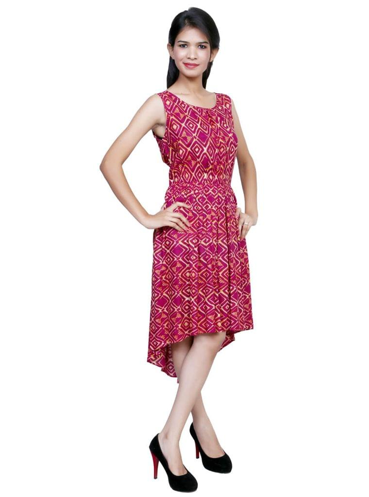 Port Halted Red Party Wear Dress For Womens