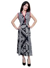 Port Casual Black digital Printed Dress For Women