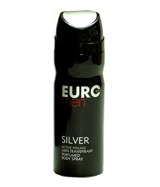 Euro Style Silver Mens Perfumed Body Spray