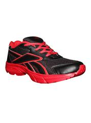 Port Men's Rother Red & Black PU Sports Shoes