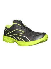 Port Men's Parakeet Black & Green PU Sports Shoes