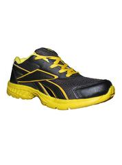 Port Men's Bonobo Black & Yellow PU Sports Shoes