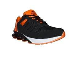 Port G-Shock Black orange PU  Running Shoes For Men