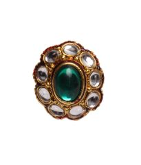 Port Exclusive Gold Plated Multicolored Ring