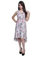 Port Designer Green FLoral Party Wear Dress For Women's