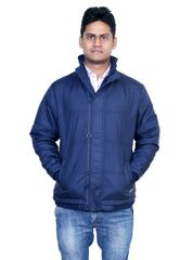 Neva Navy Blue Hooded Jackets For Men's