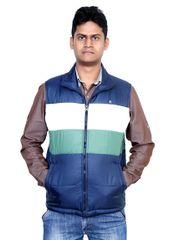 Neva Multicolored Non Hooded Sleeveless Jackets For Men's
