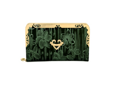 Port Exclusive Green Printed Wallet
