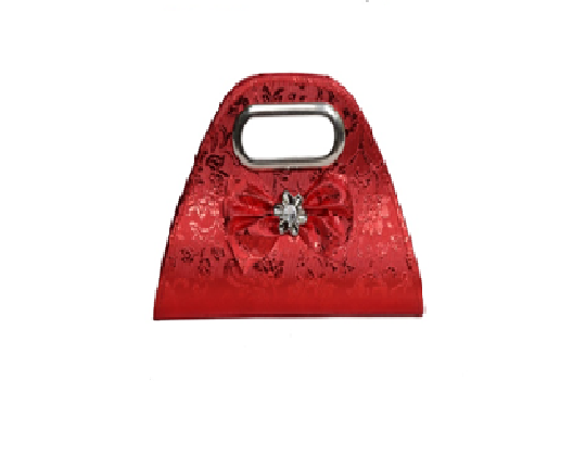 Port Exclusive Red Printed Clutch