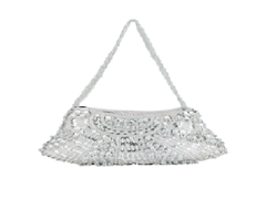 Port Exclusive Silver Embroidery Party Wear Clutch